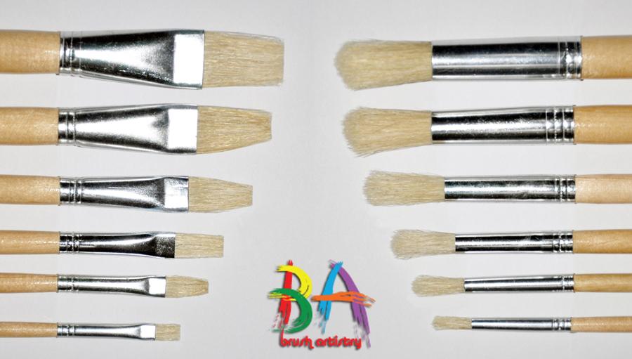 Brush-Artistry-Hog's-Hair-Bristle-Brushes-Detail