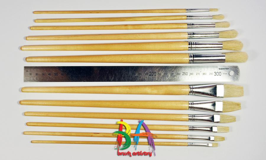 Brush-Artistry-Hog's-Hair-Bristle-Brushes